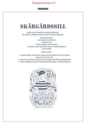 """Stikkan Design, handduk """"Skärgårdssill"""""""