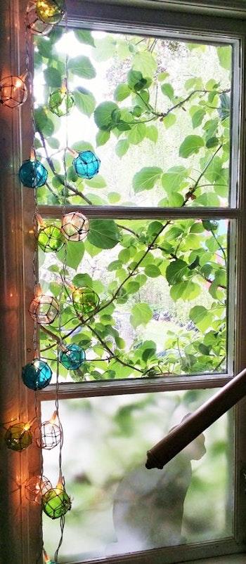 "Stikkan Design ""Fiskarflötes ljusslinga"", grön/blå"