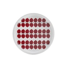 Berså bricka 31 cm. Röd