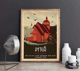 Poster Art deco Piteå 50*70