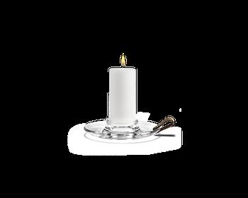Holmegaard kammarljusstake för stort gilleljus