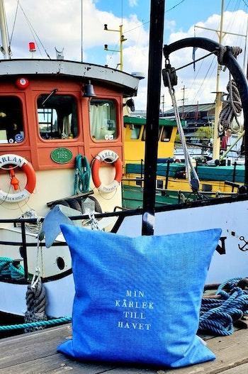 Kuddfodral: Min kärlek till havet