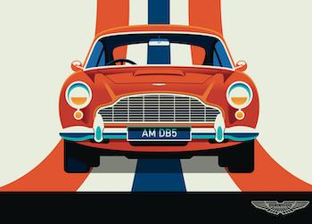 ASTON MARTIN Poster av Bo Lundberg 30*40