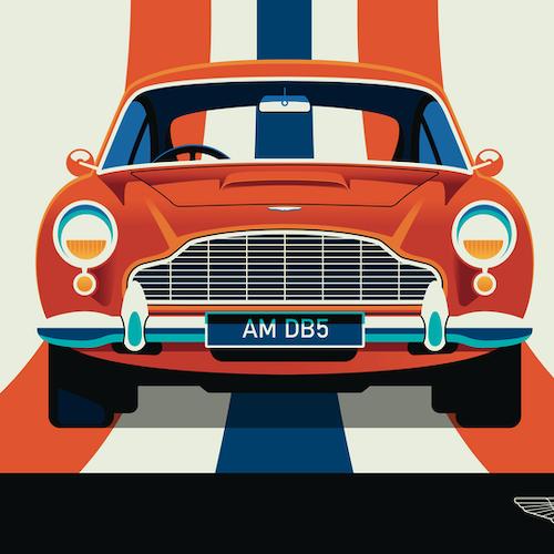 ASTON MARTIN Poster av Bo Lundberg 50*70