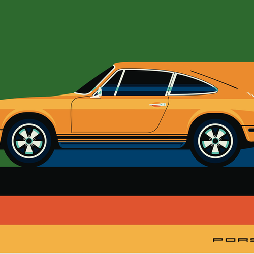 PORSCHE Poster av Bo Lundberg 30*40