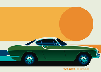 VOLVO P1800 Poster av Bo Lundberg 30*40