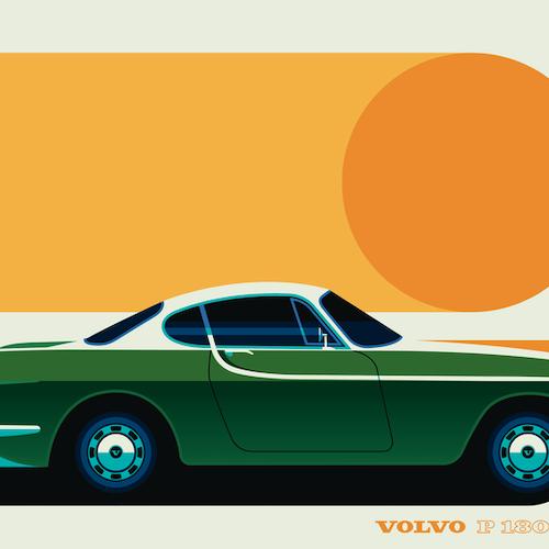 VOLVO P1800 Poster av Bo Lundberg 50*70