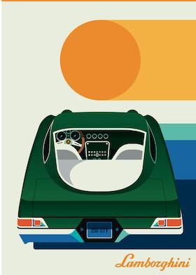 LAMBORGHINI Poster av Bo Lundberg 50*70