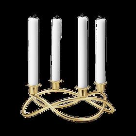 Georg Jensen-Season guldpläterad ljusstake för 4 ljus
