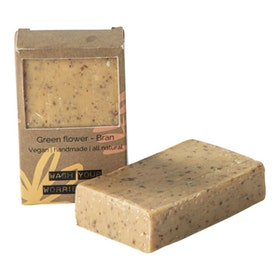 VEGAN SOAP BAR GREEN FLOWER BRAN