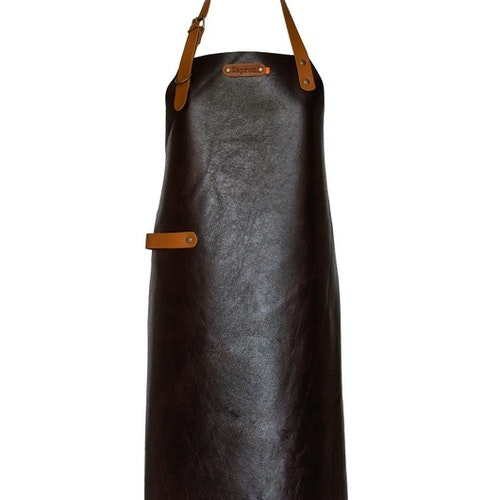 "XAPRON SKINNFÖRKLÄDE ""NEW YORK"" BROWN, 89 CM XL"