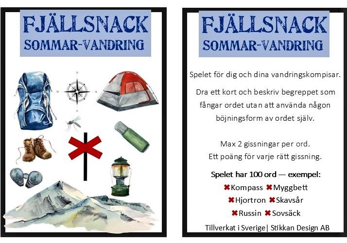 """STIKKAN DESIGN """"FJÄLLSNACK"""" KORTSPEL"""