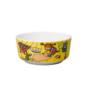 Pippi skål: Baka på golvet