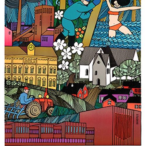 Poster  Piteå 350 år, 30*40 -