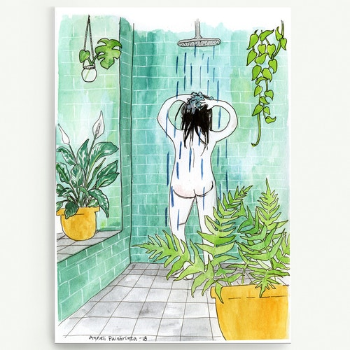 Shower in my jungle