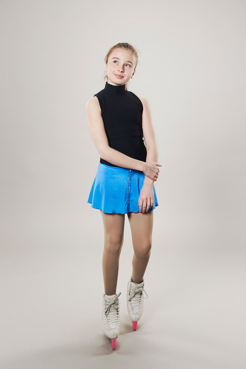 Ice skating skirt blue - line of 4 - passionice
