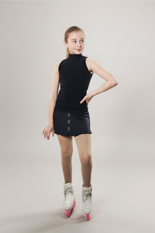 Ice skating skirt black - line of 4 - passionice