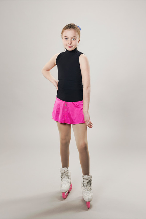 Ice skating skirt pink - line of 4 - passionice