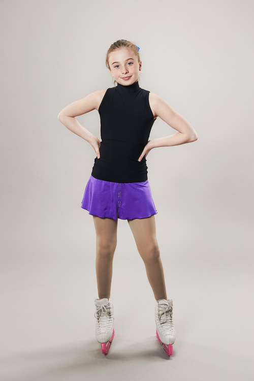 Ice skating skirt purple - line of 4 - passionice