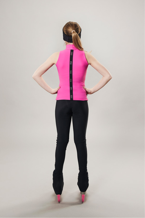 Ice skating turtleneck tanktop - pink - passionice - line of 4 - back