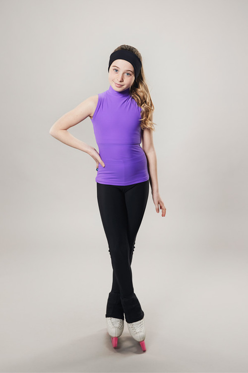 Ice skating turtleneck tanktop - purple - passionice - line of 4