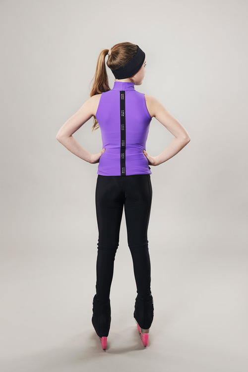 Ice skating turtleneck tanktop - purple - passionice - line of 4 - back