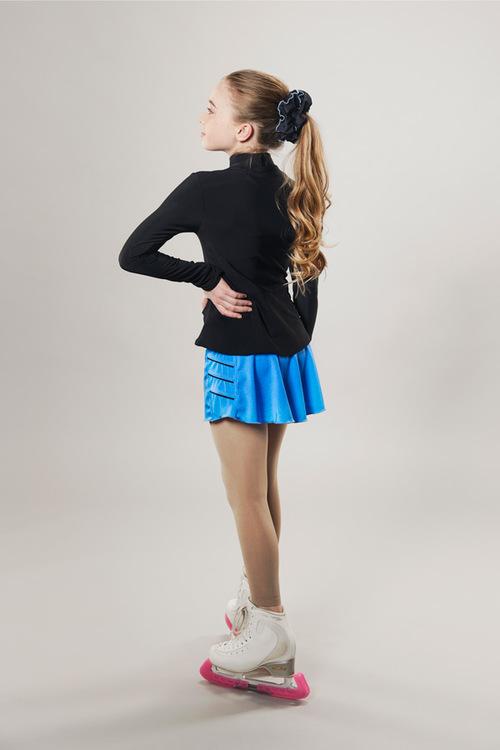 Ice skating skirt - blue - lightning - passionice - side