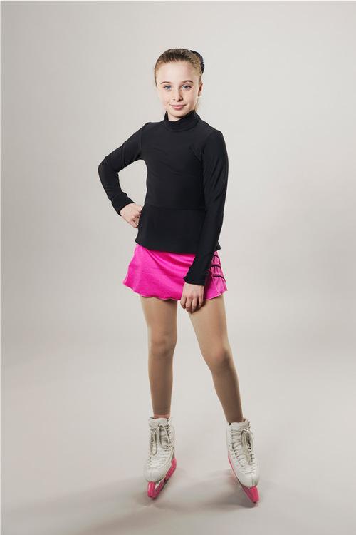 Ice skating skirt - pink - lightning - passionice