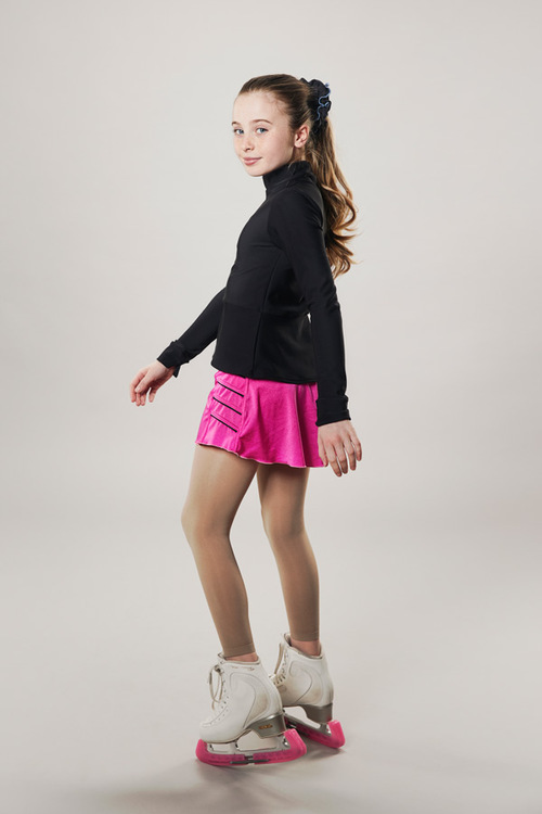 Ice skating skirt - pink - lightning - passionice - side