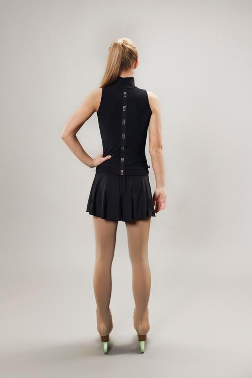 Ice skating skirt for women - black - Line of 4 - passionice - back