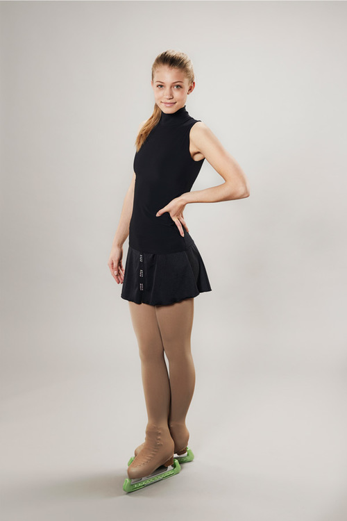 Ice skating skirt for women - black - Line of 4 - passionice