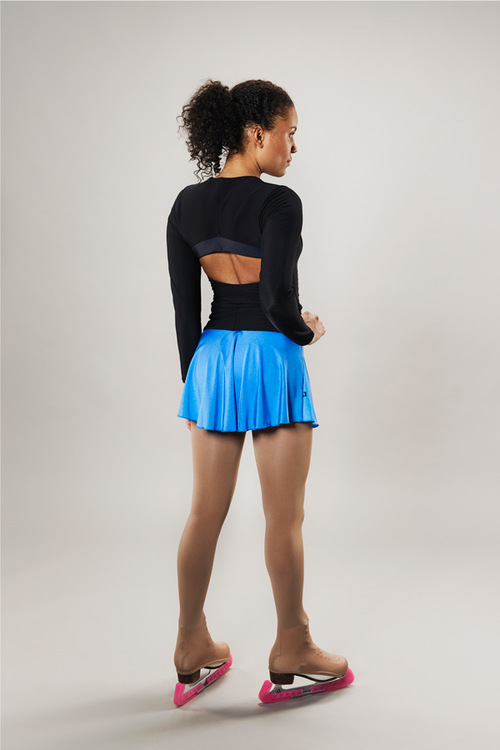 Ice skating skirt for women - blue - Line of 4 - passionice - back