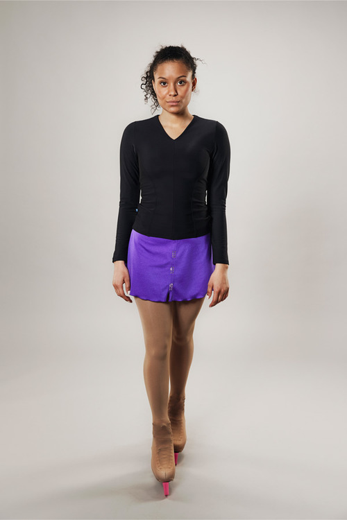 Ice skating skirt for women - purple - Line of 4 - passionice