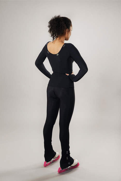 ice skating top deep back - black - line of 4 - passionice - back