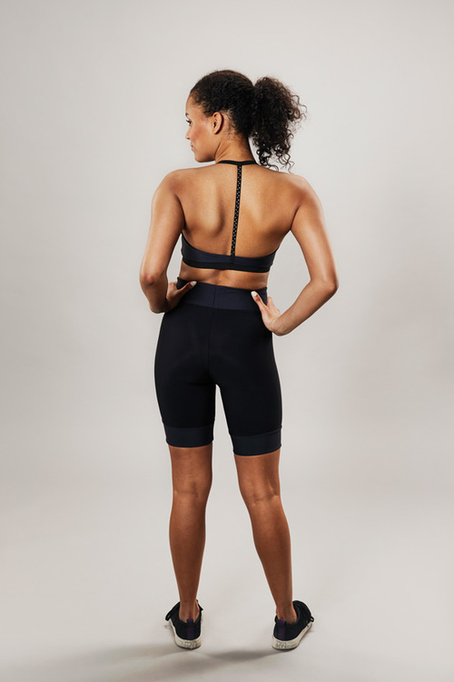 modern sports bra - grey - passionice - back