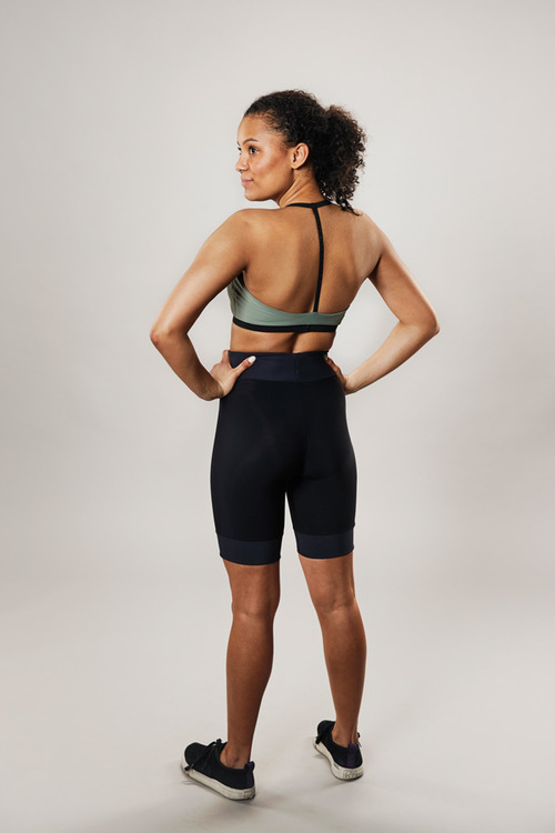 modern sports bra - musty green - passionice - back