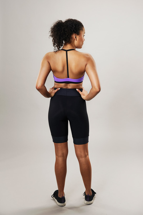 modern sports bra - purple - passionice - back