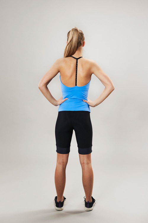 tank top for training - blue - back