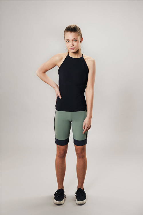 cyclist shorts for training - green - passionice - back