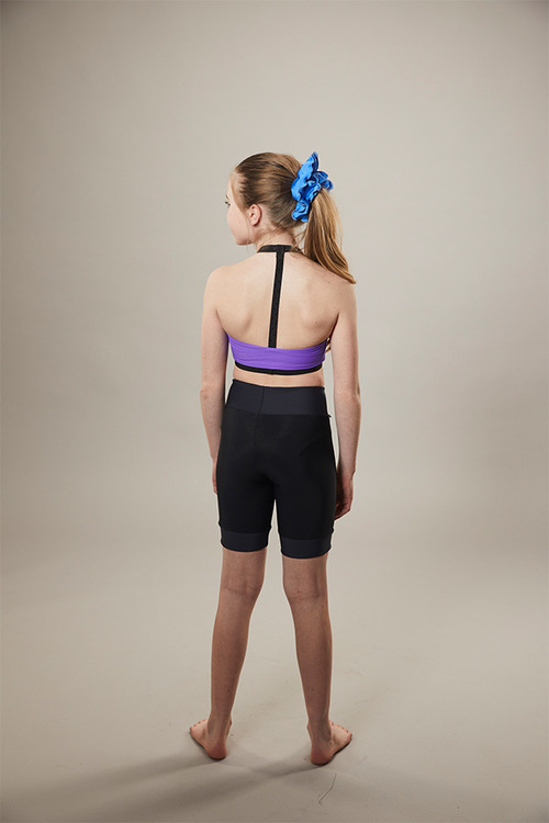 ice skating sports bra - purple - back