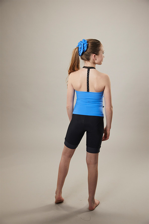 ice skating tank top - on off - blue - back