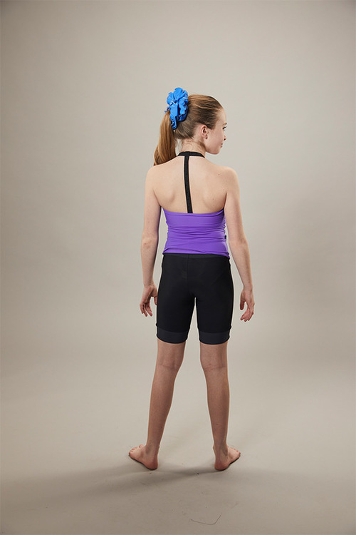 ice skating tank top - on off - purple - back