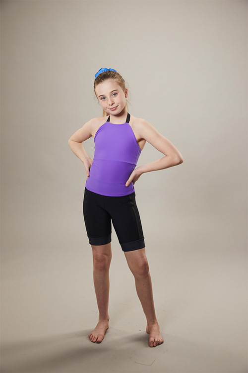 ice skating tank top - on off - purple - front