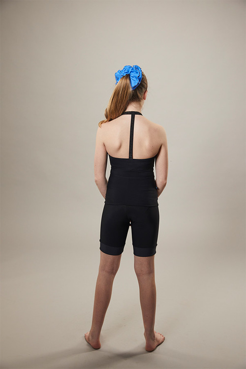 ice skating - cyclist shorts - on off - black - back