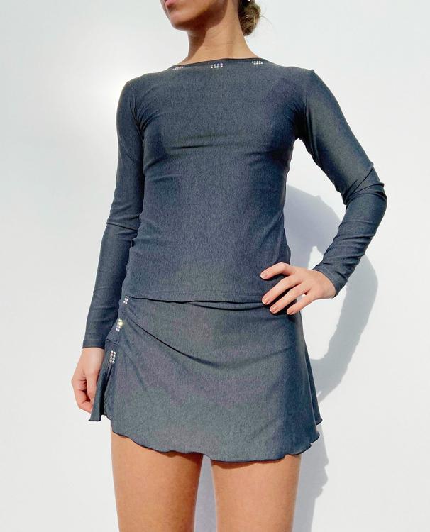 Limited Edition Line 4 Skirt Grey Melange
