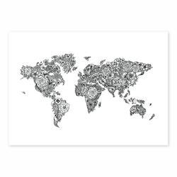 FLORAL WORLDMAP