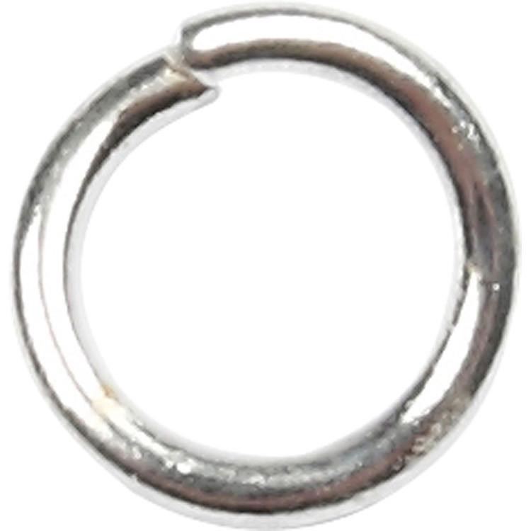 Oringar, 1 mm, inv. mått 5 mm, försilvrad, 400st.,  7 mm