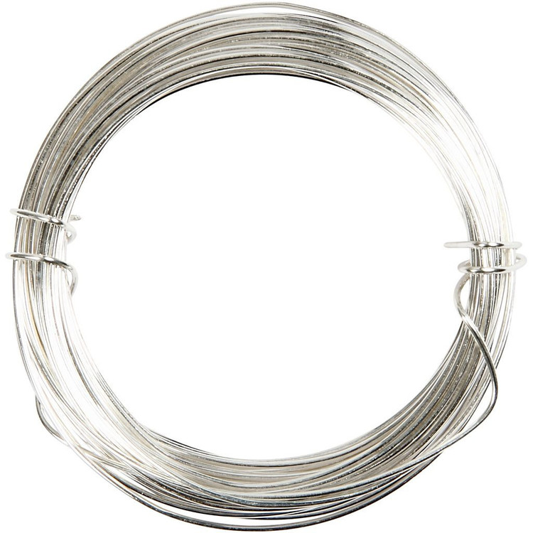Försilvrad tråd, tjocklek 0,8 mm, 6 m