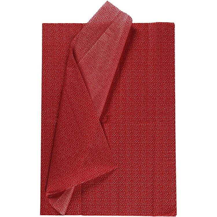 Silkespapper röd, 50x70 cm