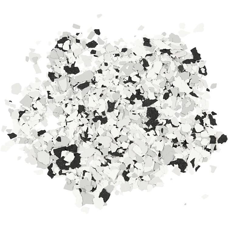 Terrazzo flakes, flera olika färger